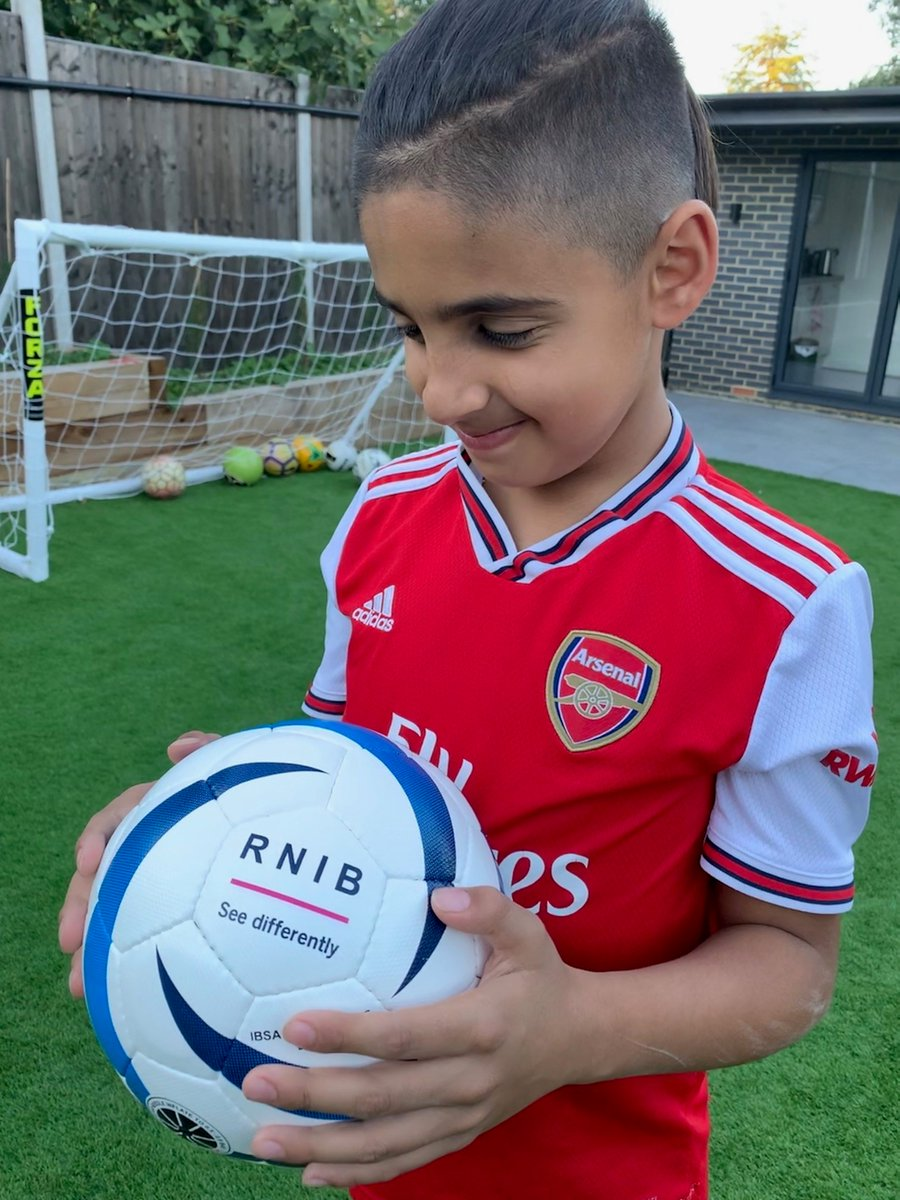 """""""Its sound is amazing, it has made the game even more enjoyable for me"""". Young blind football star @MikeyPoulli loves our audible football, part of our new range of accessible sports equipment ⚽️  Buy the range from our shop: https://t.co/rGOfy4A7nI https://t.co/2UdGFIp67f"""