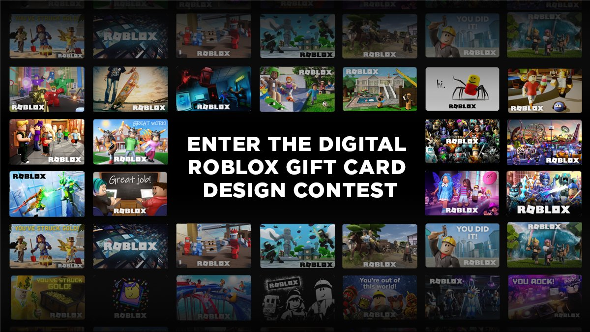 Show A Robux Gift Card Code Roblox On Twitter Come Up With An Awesome Gift Card Design Submit Your Work Watch It Become A New Roblox Gift Card Win A Gift Card For Yourself
