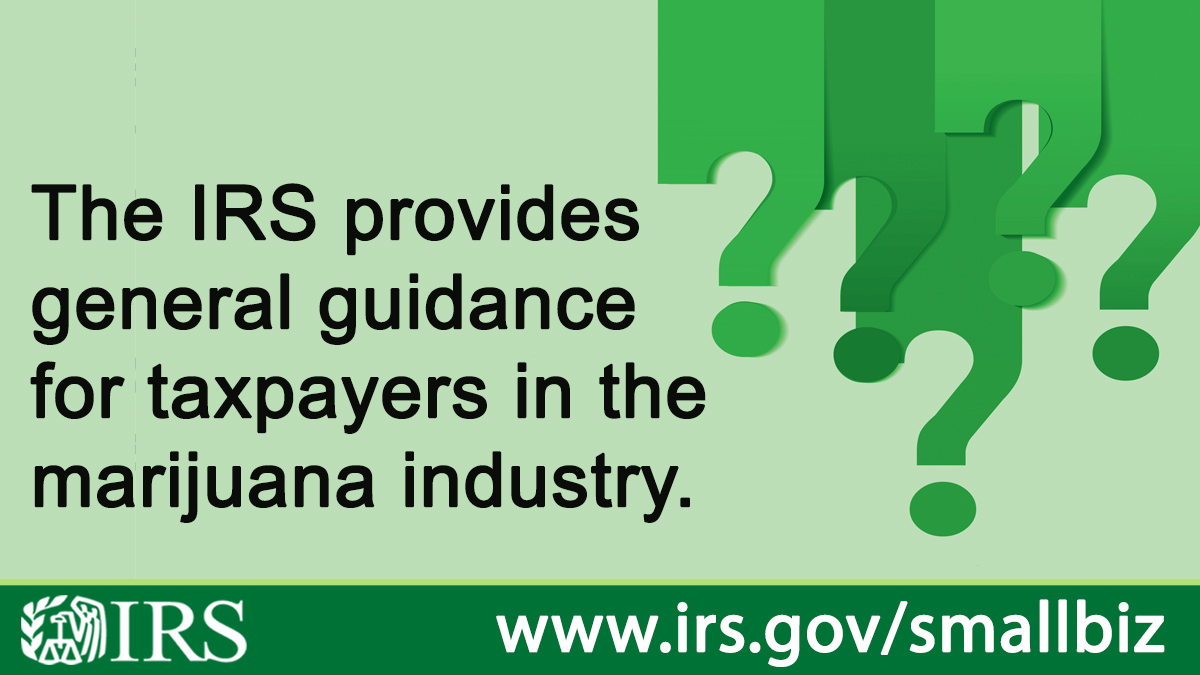 The IRS just released a new memo on marijuana industry tax issues, including making payments with large sums of cash.  A Treasury Department inspector general's report slammed IRS for not having cannabis-specific guidance in a report earlier this year.  https://t.co/MB85c2oc4Y https://t.co/6CJm6cpE6T