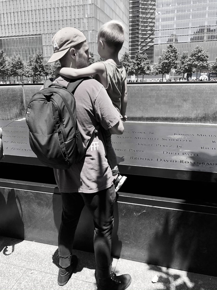 I will #NeverForget this moment. We visited the 9/11 memorial for the first time and I got to explain to my son a little bit of what happened that day.   ❤️ 🇺🇸  #NeverForget911 https://t.co/3mwlC9U9DN