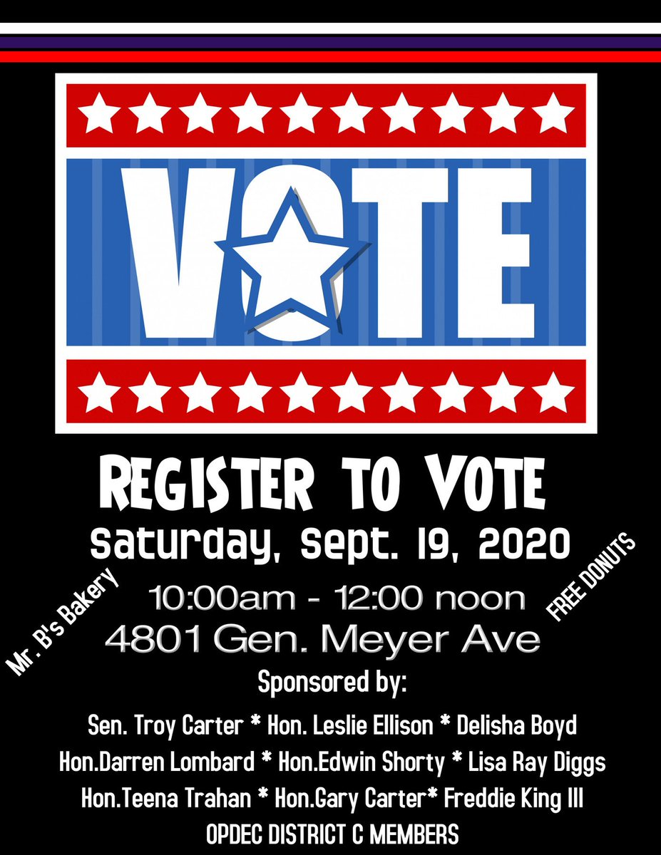 There is still time to register to vote in the upcoming Presidential Election... Perhaps the most election our country has ever had!  Please let your vote be counted! TC