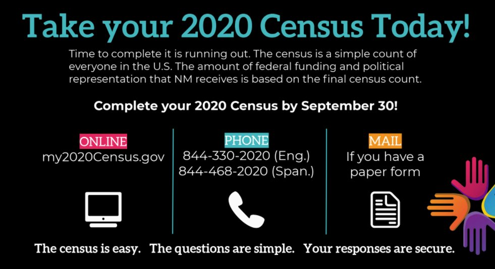 Today is #CensusDayofAction! New Mexico's future depends on an accurate count in the United States 2020 Census – complete yours today! https://t.co/YIUHFE9Hze https://t.co/MGbFlErXtF