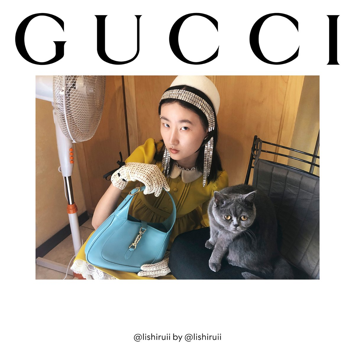 A lineup of authentic self-portraits make up #GucciTheRitual, the #GucciFW20 campaign imagined by #AlessandroMichele to subvert fashion traditions. Seen here together is a pastel leather #GucciJackie1961 bag from the new collection. https://t.co/Xg9wMzhVTg https://t.co/tXtPc834wb