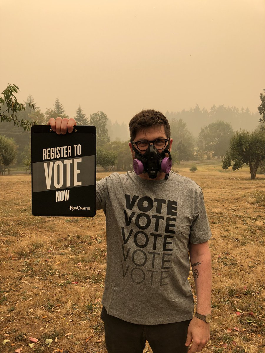Greetings from Level 1 Evac zone, where we are feeling the direct effects of climate change. Don't feel helpless/hopeless. VOTE! Register to vote at https://t.co/5UoAQLtNXu or text VOTER to 40649 for more info. You can't sit this one out. #VoteReady https://t.co/kKXkJqxapG
