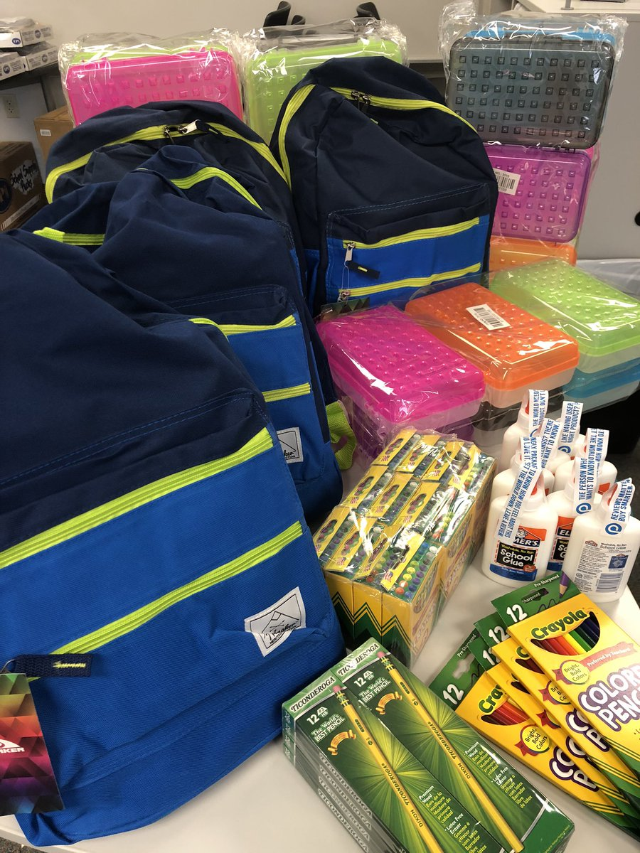 Thank you to FBC Midlothian for donating school supplies @Longbranch_Elem #MISDproud #leadlovelearn