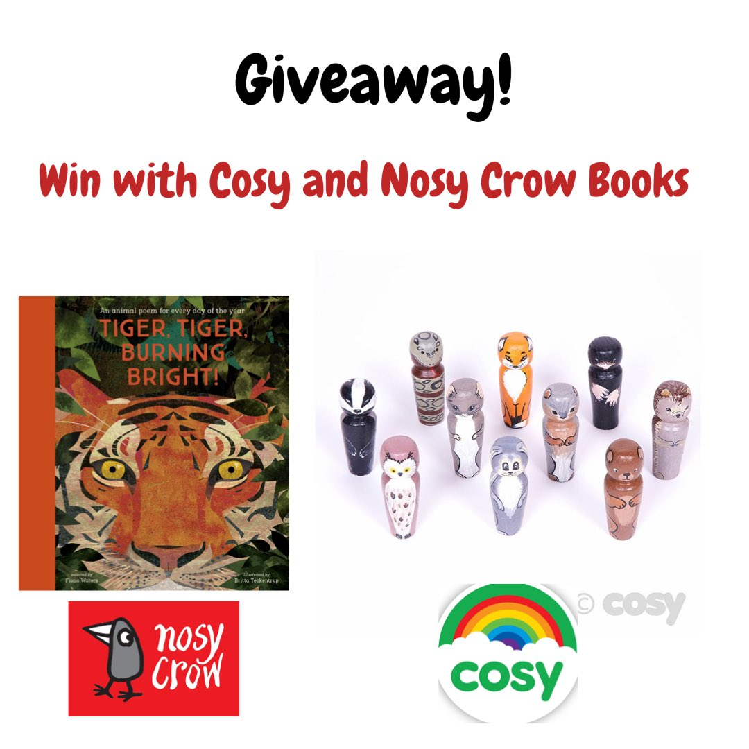 💚 Giveaway! 💚  We've teamed up with @NosyCrowBooks for a fantastic giveaway to celebrate back to school. For a chance to win a copy of Tiger, Tiger, Burning Bright and a set of our woodland peg dolls...  🌈 Like & RT this post 🌈 Follow 🌈 Tag a friend/s   Closes 1st Oct at 6pm https://t.co/3xmuzYNLY7