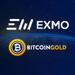Image for the Tweet beginning: EXMO exchange supporting $BTG since