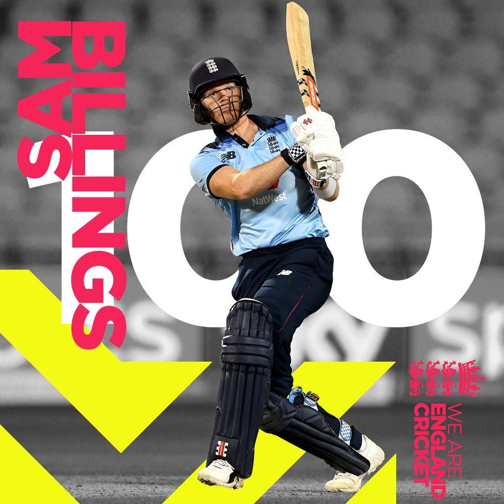 RT @englandcricket: A wonderful 💯 @SamBillings!! 🙌  Scorecard/Clips: https://t.co/UlhnI6NPzo  #ENGvAUS https://t.co/c2oHxa11Ag