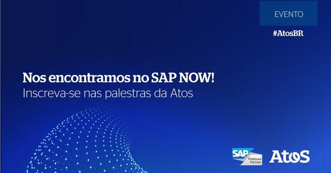 Segunda-feira (14) começa o #SAPNOWBrasil! Reserve sua a agenda e assista a palestra da Atos...