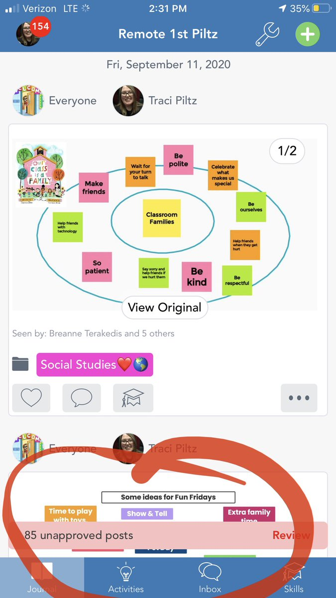 Lesson of the week: it's one thing to be the tech coach teaching teachers about these tools and a whole other thing to now be a 1st grade teacher muddling through these @Seesaw notifications & approvals. 🤣🤪 TGIF! Ha! #BPSLearns #seesawchat https://t.co/iM5ew6clxW