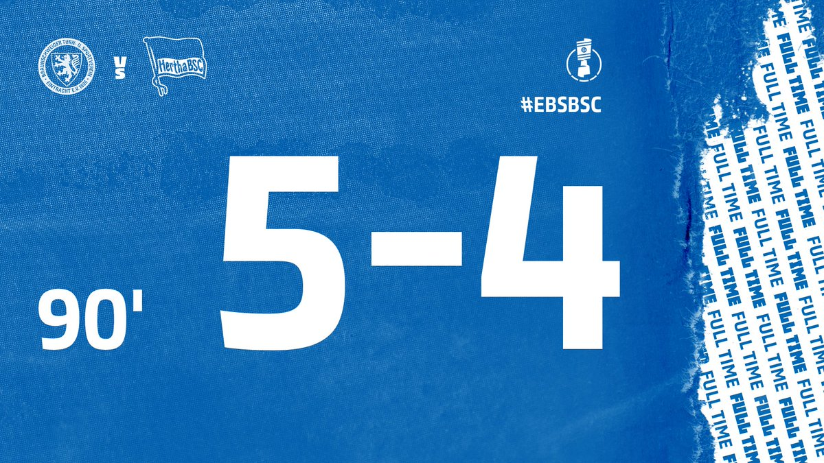 Full Time Eintracht Braunschweig 5 4 Hertha Berlin Germany Dfb Pokal September 11 2020 Football365