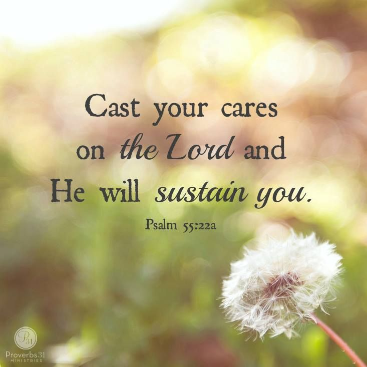 ✝️ Today's 1-Yr #Bible ~ Psalm 55:22   Cast your cares on the Lord and he will sustain you; he will never let the righteous be shaken. https://t.co/osCe2HCJEx