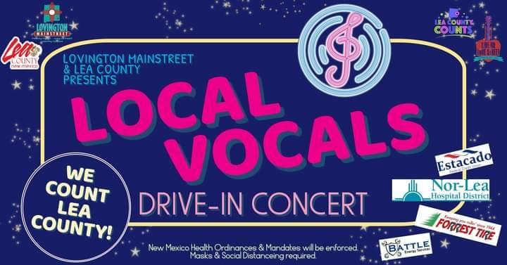 Join Lovington MainStreet for a fun, COVID-safe night of live entertainment, carnival eats and giveaways TONIGHT at the Local Vocals drive-in concert! https://t.co/zqZVbwmrOm #NMEcon #NMMainStreet #NewMexicoTrue https://t.co/9IzwWeeToC