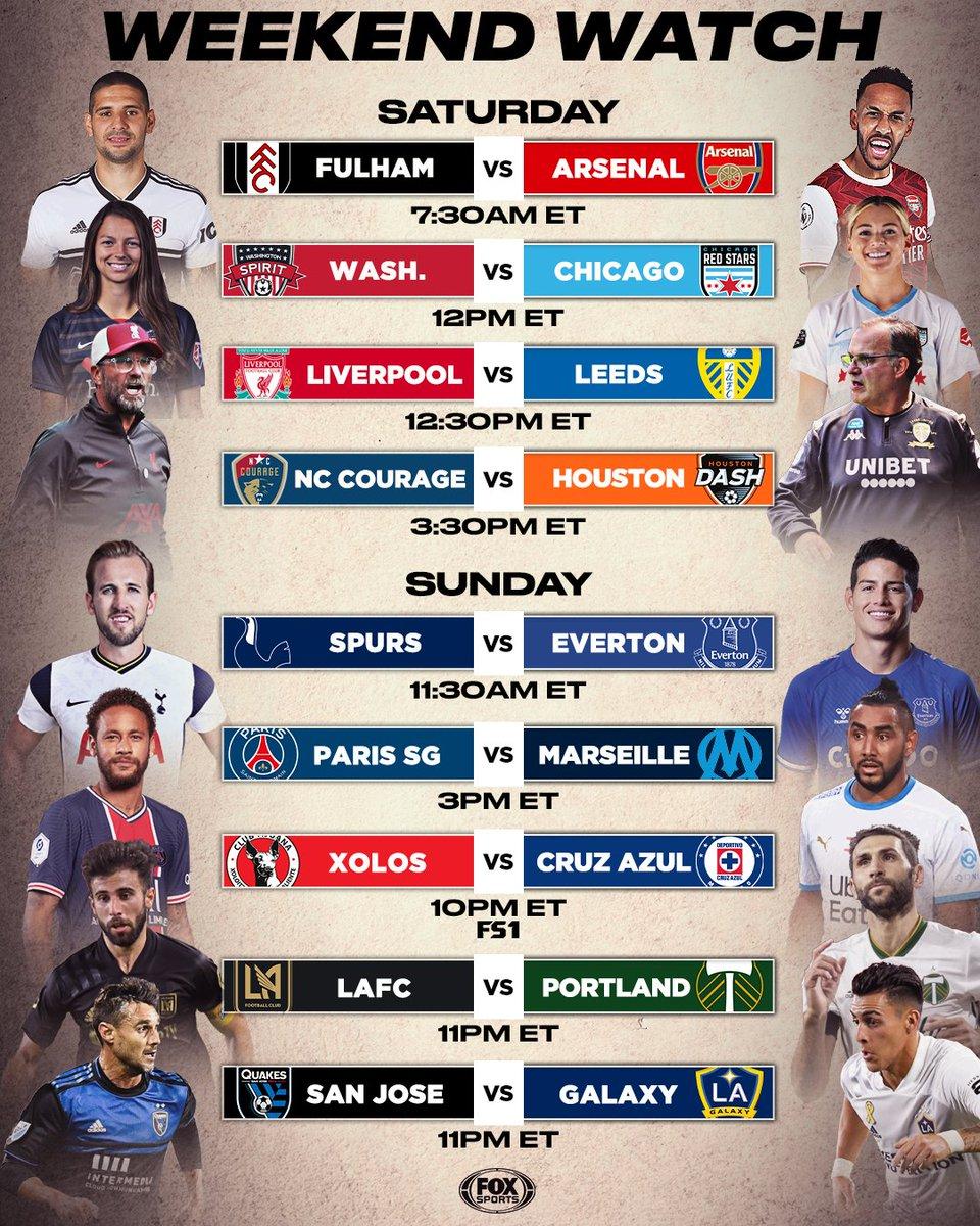 Premier League returns. #NWSLFallSeries rolls on. Le Classique. Liga MX. MLS. Its gonna be a good weekend 😍