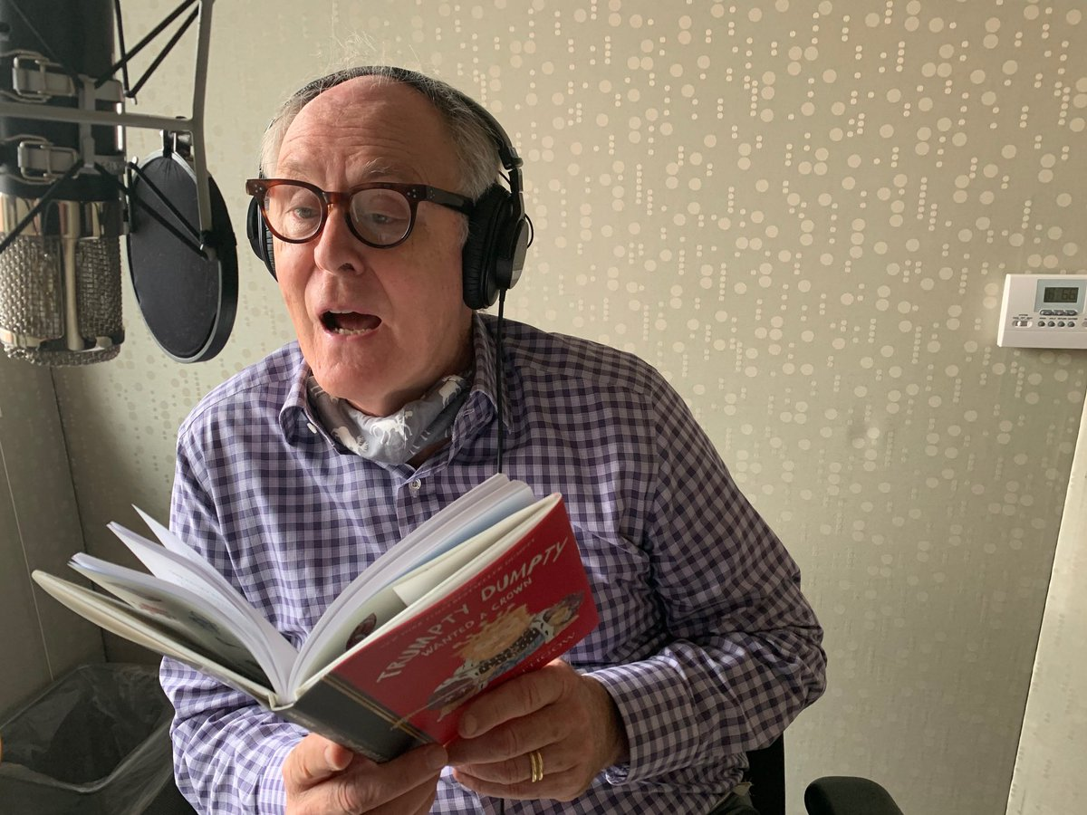 Last little fixes on the TRUMPTY DUMPTY audiobook. The poems are a LOT easier to read than write. https://t.co/RFm40ZWoVW