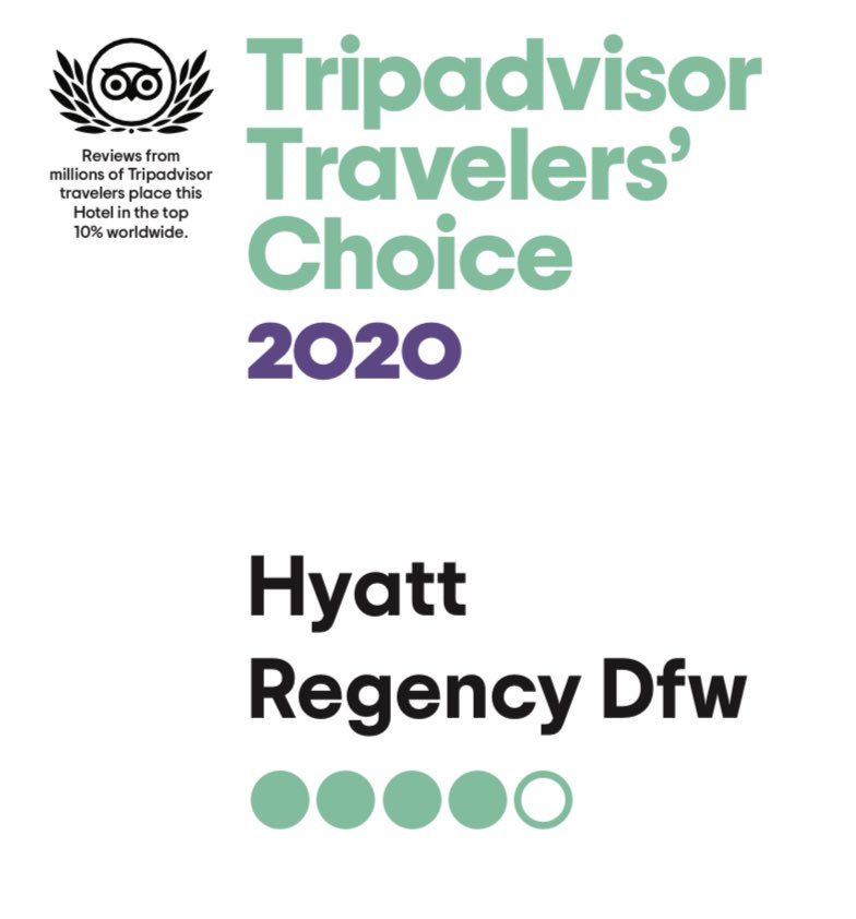 Thank you to all our guests for your reviews and letting us know how we are serving you.  #hyattregencydfwairport #hyattregencydfw #dfwhyatt #tripadviser #dfwhyattregency #dfwairport https://t.co/1GZPmv49ub