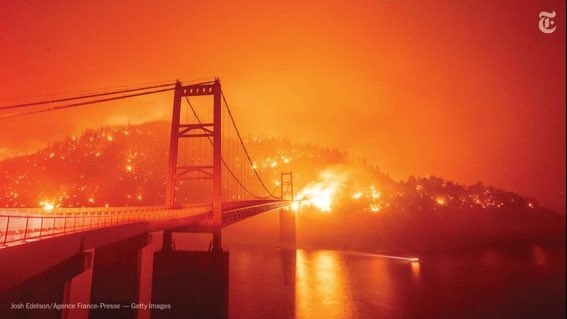 Why has @realDonaldTrump not said or done anything to assist in controlling wildfires that are turning orange the skies of our west coast? Is it because they're blue states who don't pledge loyalty to you? If you won't lead for all of us, you should lead for none of us! https://t.co/cdgQG2evbs