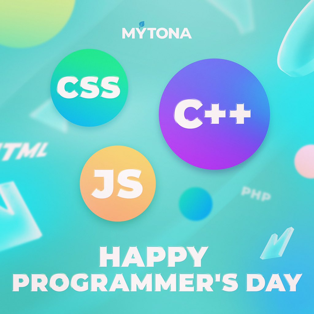 We congratulate all programmers on their professional holiday!🥳🎉 May your processor never overheat, your bugs always turn into features, and code be written in seconds!  On this day, we'd like to thank programmers for making our lives better and easier💙 #mytona https://t.co/xn54MxLUs3