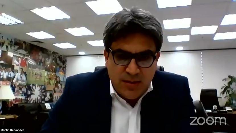 """mineduperu on Twitter: """"El ministro de Educación, Martín Benavides, presenta  su ponencia """"Educación sin límites: prioridades y apuestas frente al  covid-19"""" en el #CADEedu, donde hablará de las acciones del Minedu durante"""