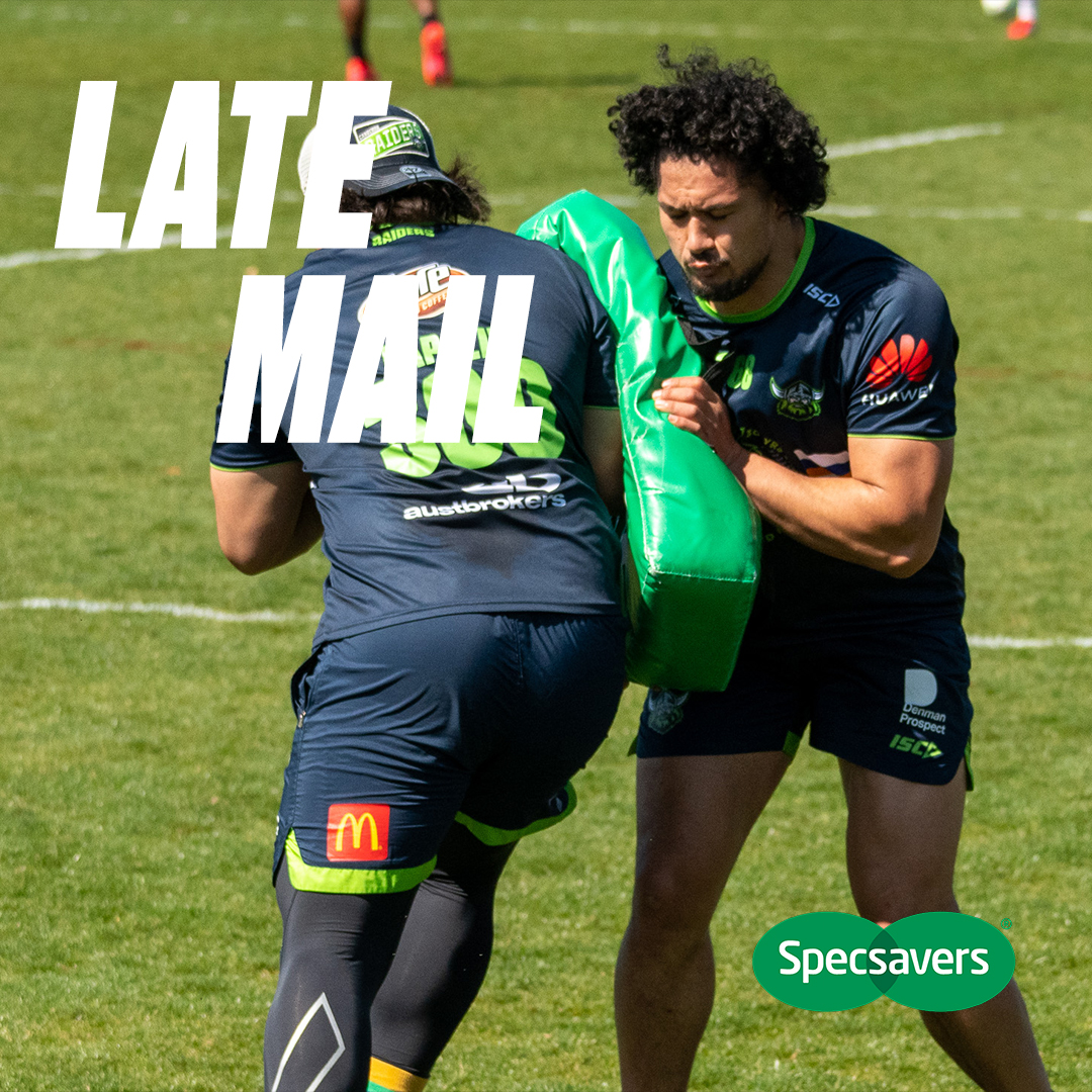 Canberra Raiders On Twitter There S One Change To Our Starting Lineup Late Mail Https T Co Xkuqartebq Brought To You By Specsavers Weareraiders Nrldragonsraiders Https T Co Hcyh2ezwfd