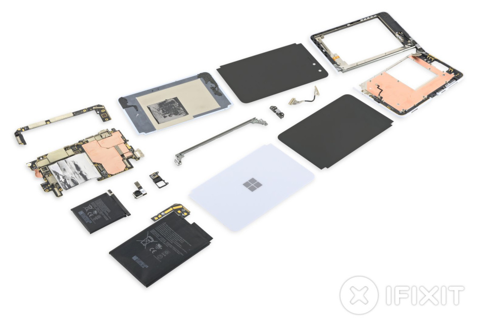 Microsoft Surface Duo teardown reveals 'refreshingly simple hinge design'