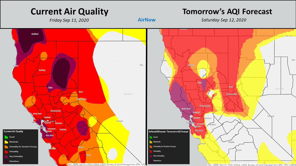 Stay up to date on the current and and forecast Air Quality for Norcal. #sacwx https://t.co/K1hCu7sjAv