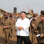 Image for the Tweet beginning: North Korea's Kim inspects reconstruction