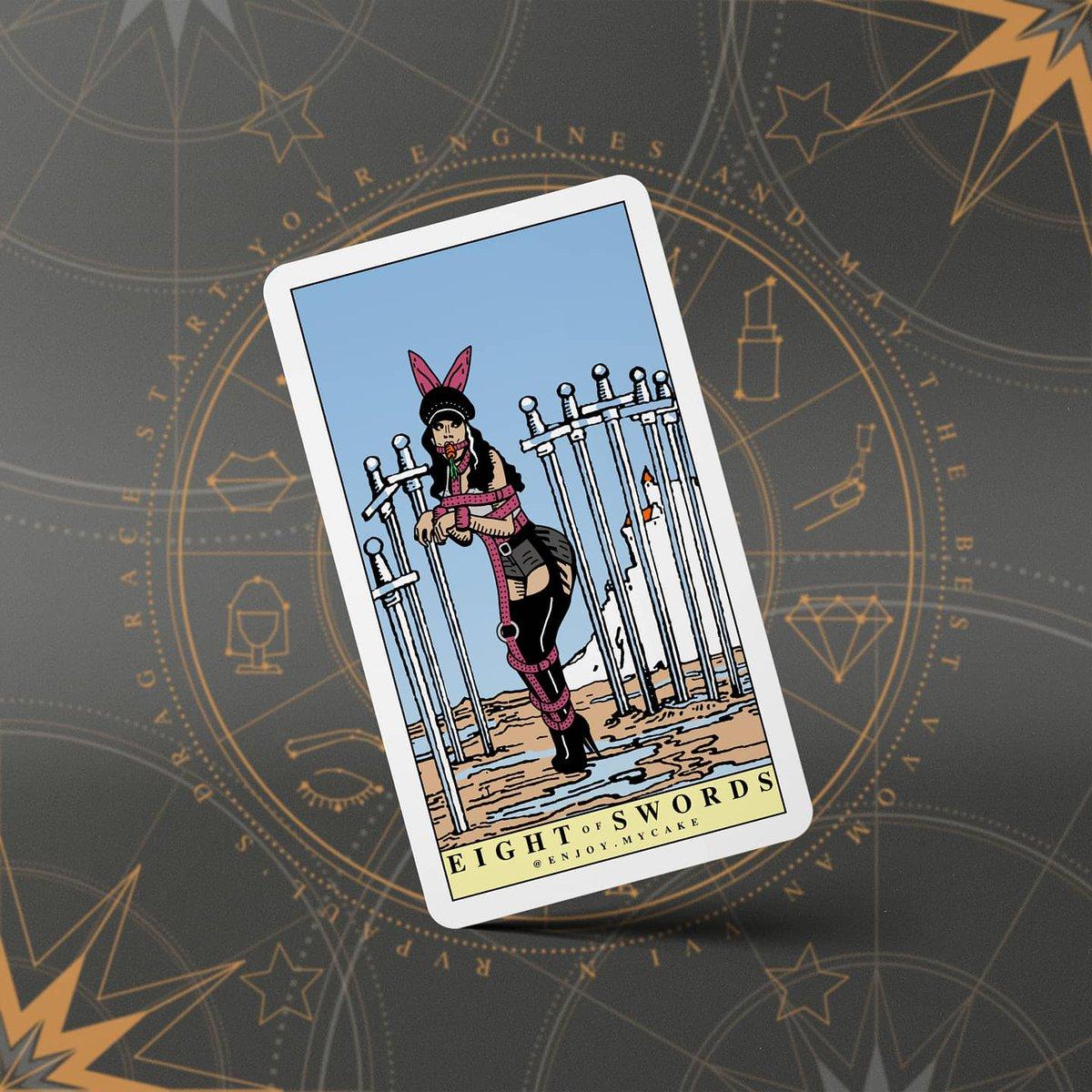 I'm turning RuPaul's Drag Race queens into tarot cards.   Manila Luzon as Eight of Swords   @manilaluzon #tarot #dragrace https://t.co/sl2sa8uQOw