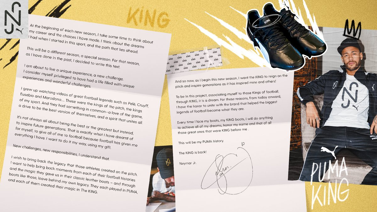 📝 In my own words. @pumafootball @PUMA #KingIsBack https://t.co/ZdOrjKv06r