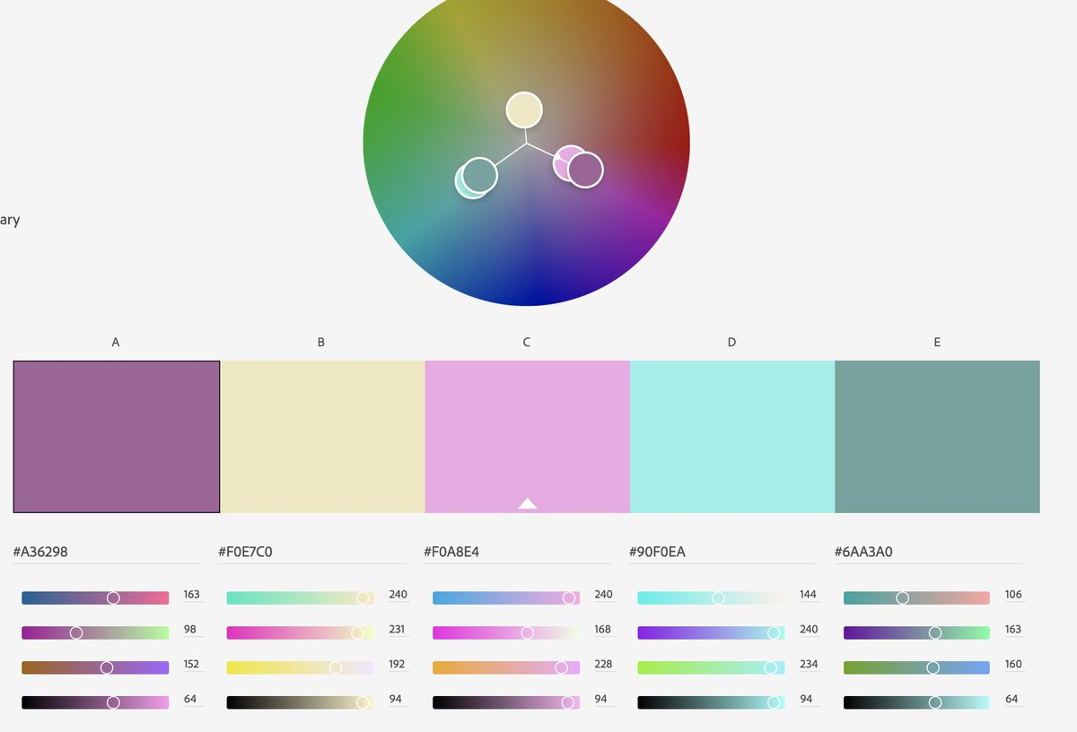 You can then use Adobe Colour Wheel to find a complementary palette color.adobe.com/create/color-w…