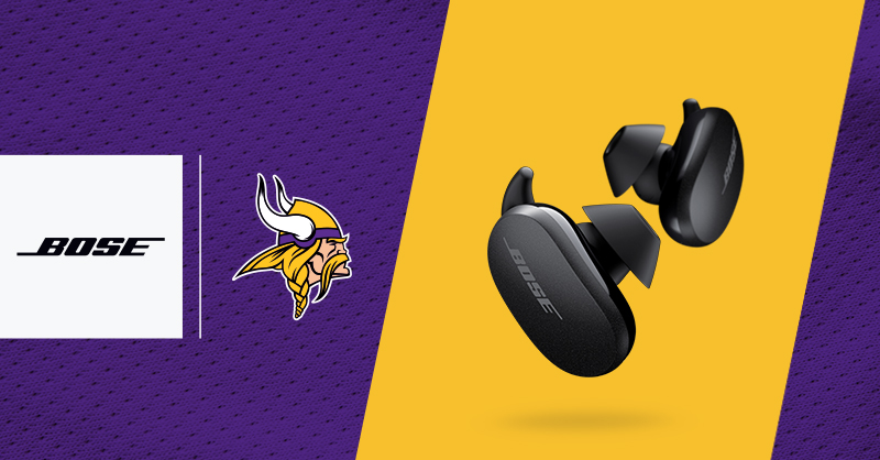 We're back, #Vikings fans!  RT for a chance to win the new #BoseEarbuds!   https://t.co/6JcglB7lHf https://t.co/hpqeHPBTzi
