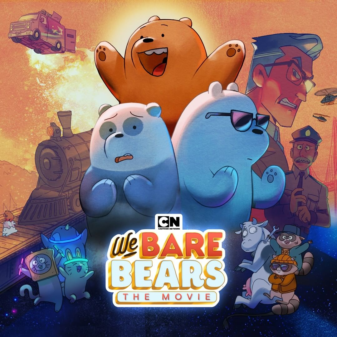 Ice Bear is dope in this poster. Ice Bear is ready for Asia fans at 11AM. #CNWatchParty #WeBareBears