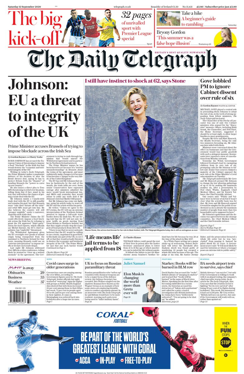 The real threats to the integrity of the UK are you Boris Johnson and your Brexit!  It was your choice to choose the hardest possible exit. Why did you not explain the consequences of your plan to the British people? https://t.co/bZKLMCgAI4