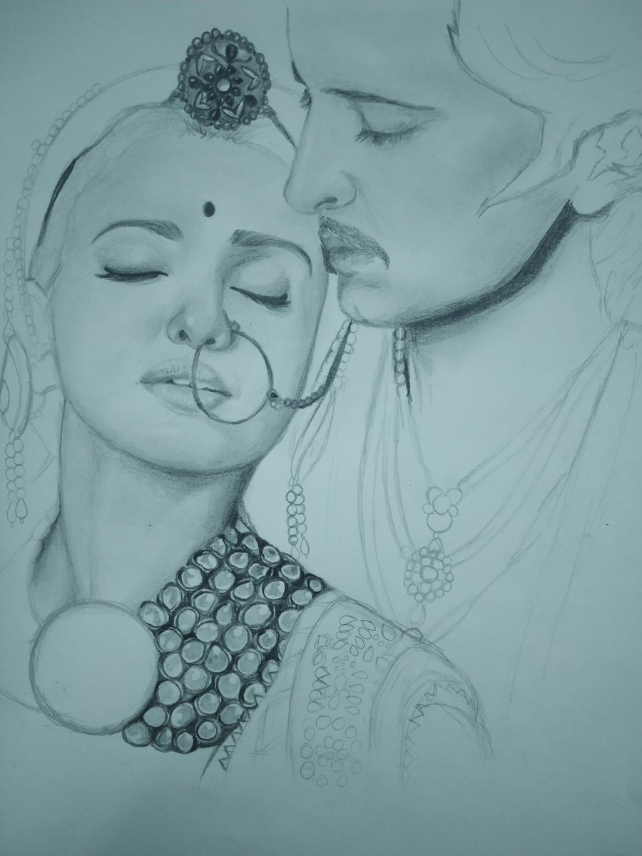@iHrithik and #Aishwarya as Akbar and Jodhaa😇❤ It's still a work in progress though!!❤🌟 #JodhaaAkbar 💓