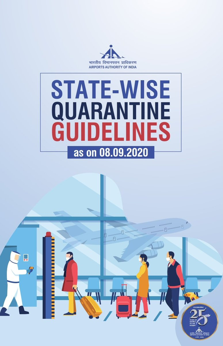 Attention! Make your travel convenient, safe and easy!  Plan your travel by following these latest State-wise quarantine guidelines (updated on 08.09.2020)  Fly safe!   Here is the link: https://t.co/YFZgjKtrhp https://t.co/5kMg3wYge6
