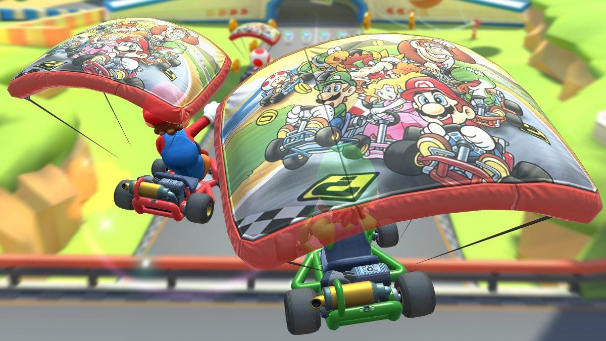 test ツイッターメディア - 空を飛ぶたび現れる…! スーパマリオカートの当時のパッケージがグライダーに!  「スーパーマリオカートカイト」が新登場!  #マリオカートツアー https://t.co/B1R3CF3nF0
