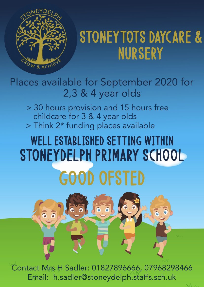 Places available at nursery and daycare. Please spread the word if you live in the local area. Fantastic staff and beautiful outdoor learning spaces.