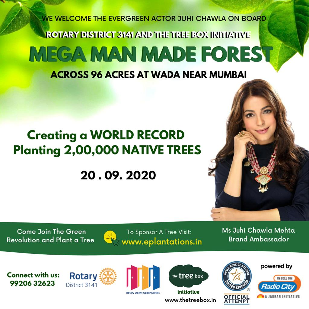 Thrilled to be a part of a record breaking initiative for a greener planet; a cause so close to my heart! 🙏  Reversing deforestation is complicated; Planting a tree is simple 👍   Our true #CitizensOfTomorrow  @thetreeboxtweet @rotarydist3141 https://t.co/bnCVEzdYhM