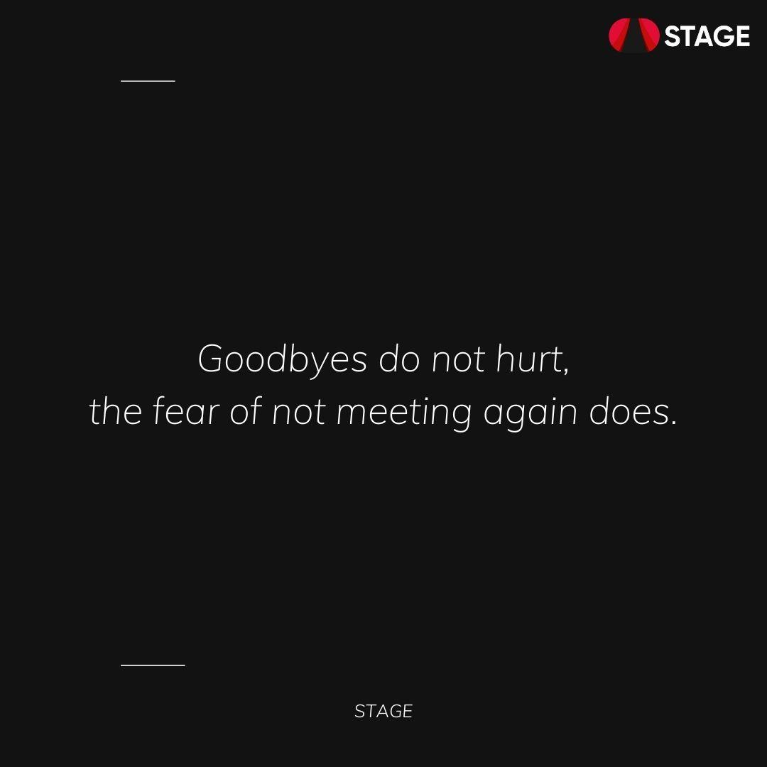 Goodbyes do not hurt! https://t.co/CciZBhBGzY