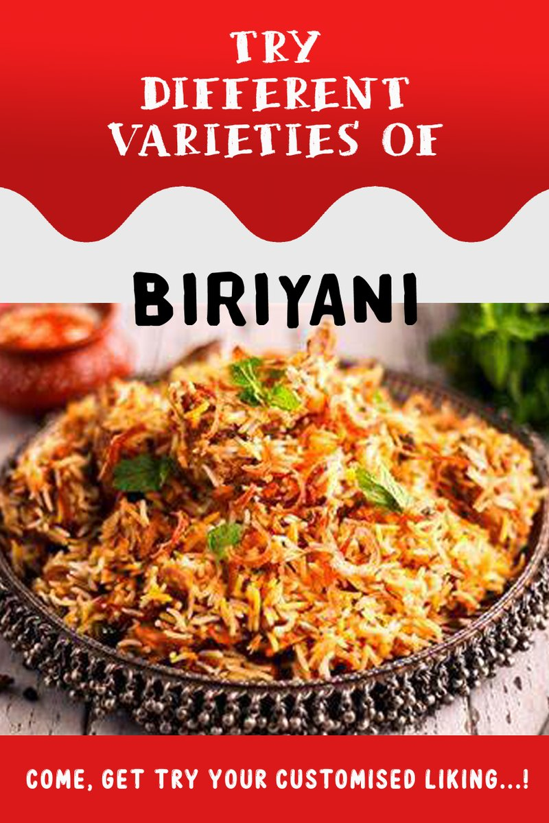 Varieties of Biriyani