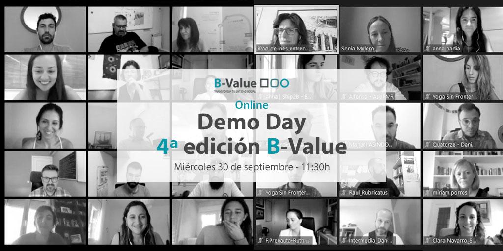 🔵#BValueTransforma, el programa que impulsan @FBSabadell y @Ship2B para líderes del tercer sector, te invita el 30/9 al Demo Day para conocer los proyectos finalistas de la 4ª edición. ¡Regístrate! (sesión virtual) 👉https://t.co/GZbhbzlPdK https://t.co/AgmVKJ1zgP