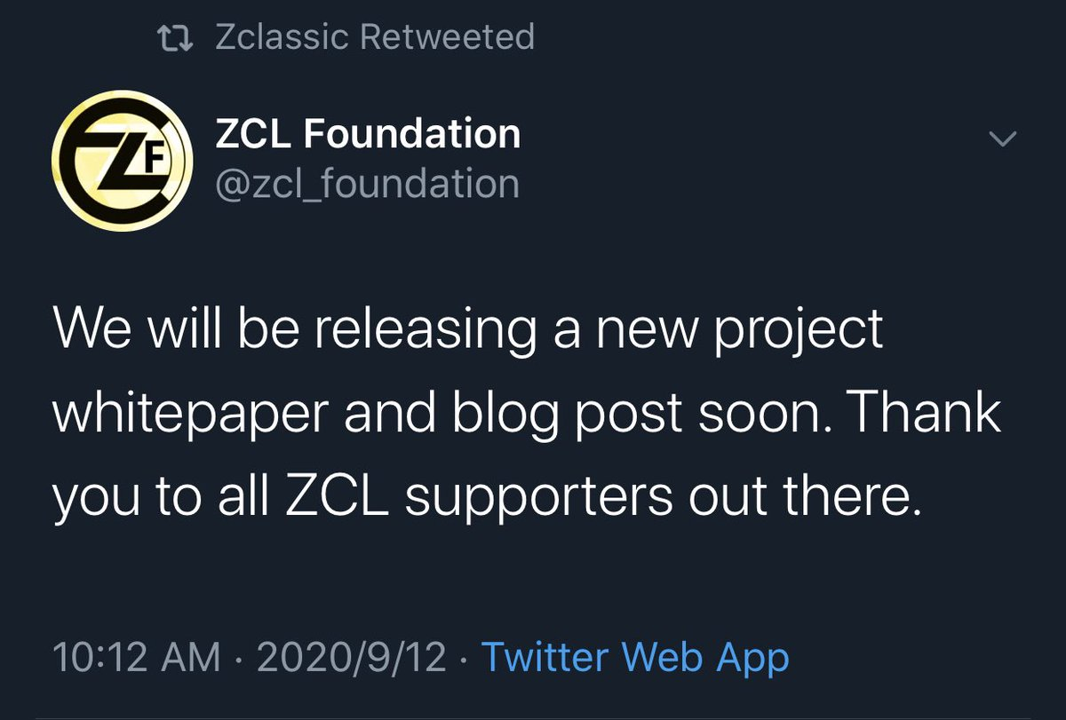 What should we expect from @zcl_foundation @ZclassicCoin  team..  #zcl #bnb #yfi https://t.co/Vn3Wp7KJlA