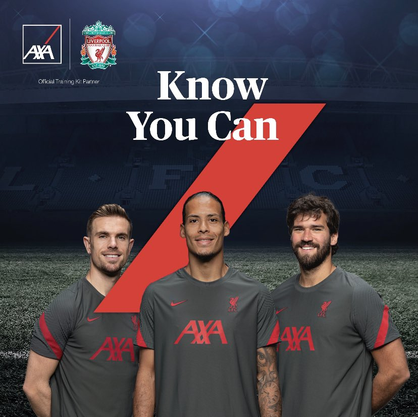 Preparation complete, it's time to embark on the next chapter.   We're proud to be the Official Training Kit Partner of @LiverpoolFC , good luck in your first game of the season. Success begins off the pitch.   #KnowYouCan #AXA #OfficialTrainingKitPartner #LFC https://t.co/e9DGuQBs1F