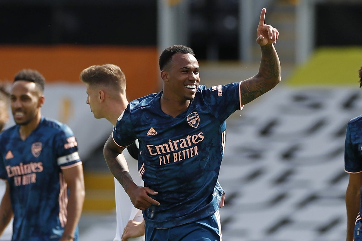 Pierre-Emerick Aubameyang reacts after Arsenal end losing streak