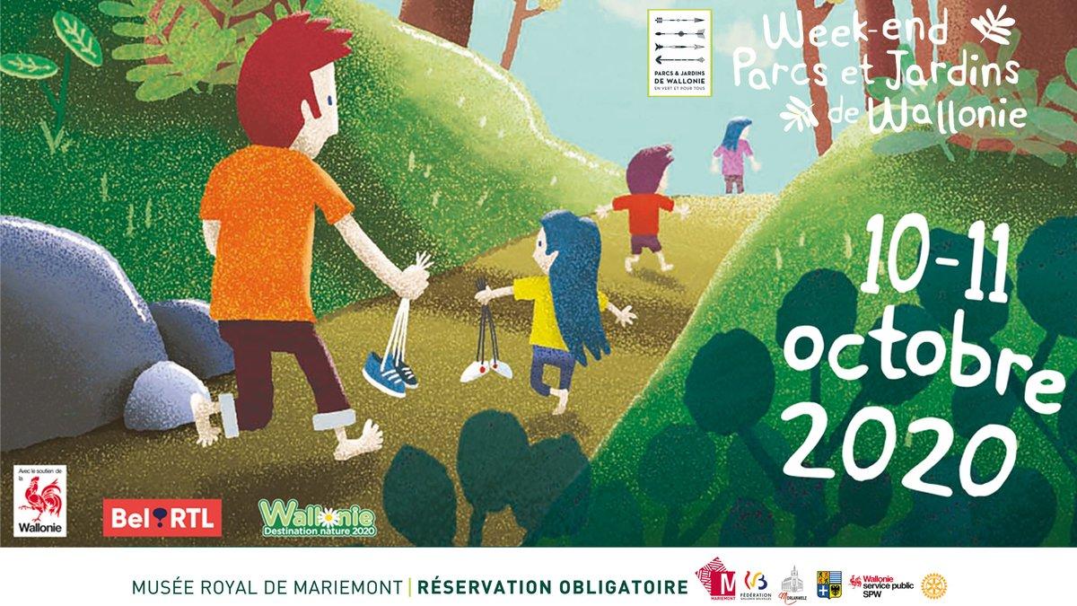 Le Musée royal de Mariemont, le SPW Environnement, l'ASBL Parcs et Jardins de Wallonie et le Rotary Club de Mariemont vous invitent au Week-end Parcs et Jardins de Wallonie, les 10 et 11 octobre au Domaine de Mariemont.  📌 Réservation indispensable !  https://t.co/APkUEpiKO5 https://t.co/h21pnTBr5p