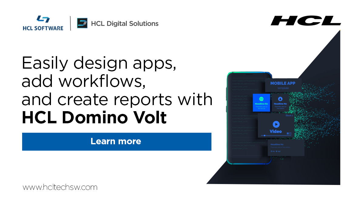 From business-process apps to customer-facing 📱 apps, it's easy to create solutions for any industry —  with #HCLDominoVolt. more: https://t.co/IMxI2ZRmw5 #dominoforever