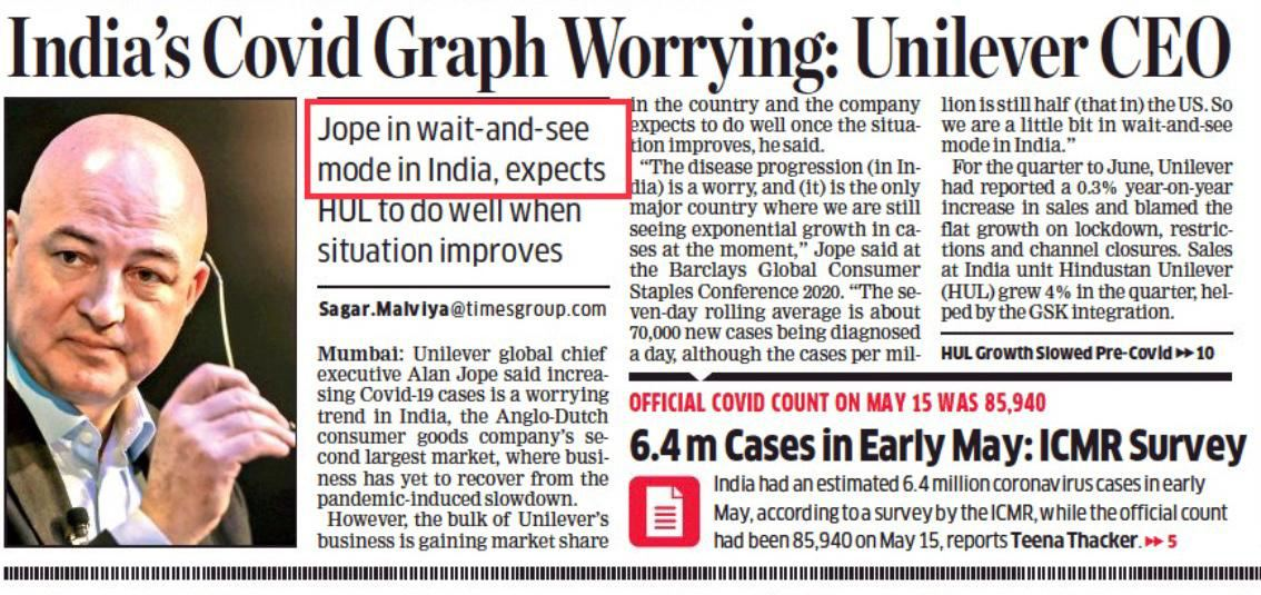 One of Indias biggest employers is in wait and see mode since Covid cases are rising. So, no hope of job creation & safe future for youth anytime soon. Yet another outcome of Modi Govt's sudden & unplanned lockdown which has snowballed India's already-precarious economy.