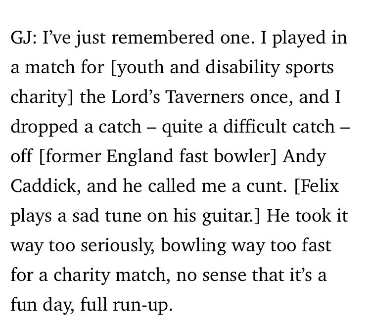They printed my General Cricketing Sadness. This is an exclusive. https://t.co/BD0odzuc8m