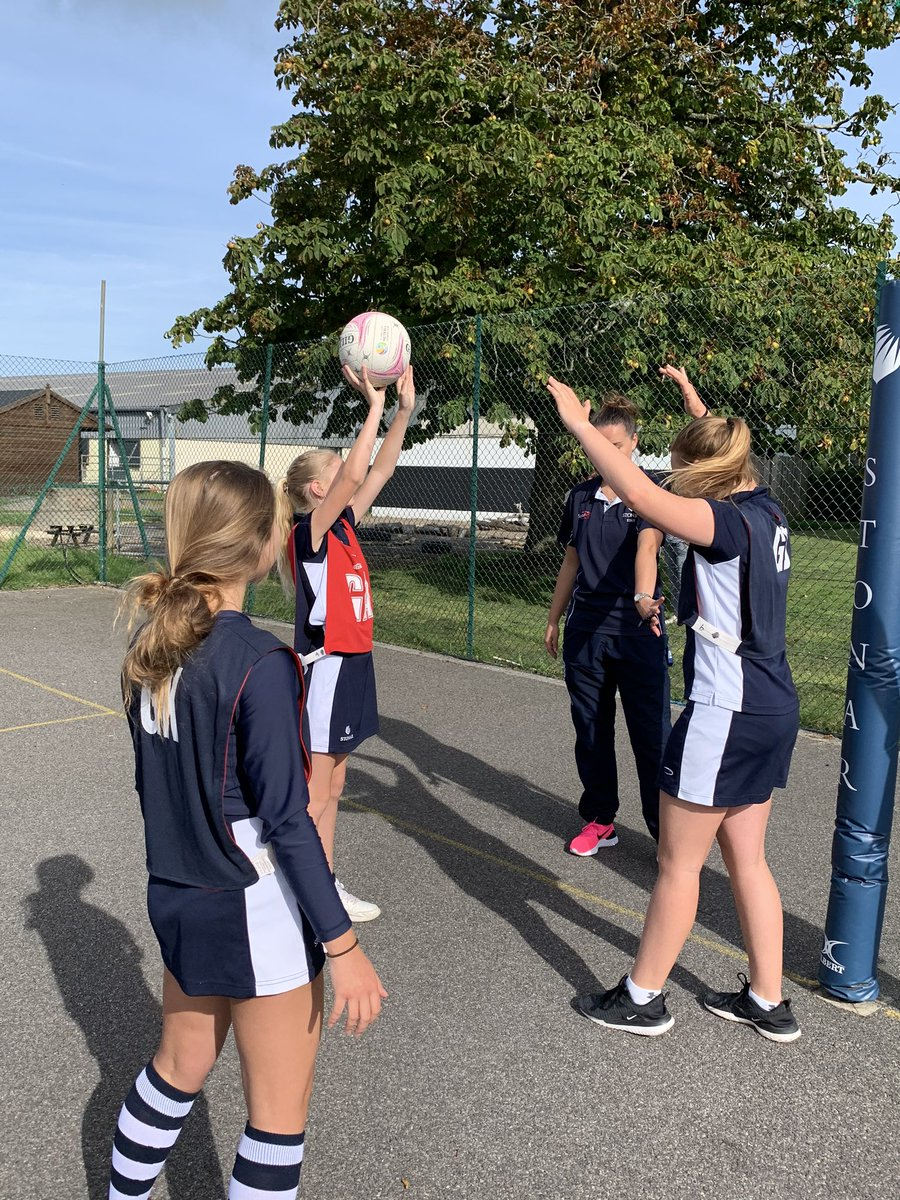 Well done to the Year 7&8 girls for an excellent morning of netball! #gettingusedtonewrules