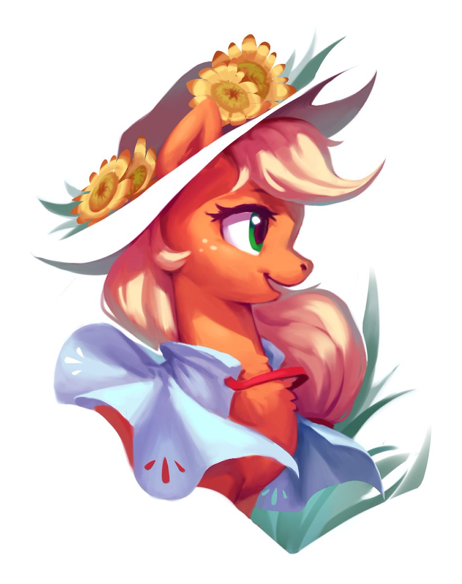 Nighty Moody Sketch #21 Another horse girl w/ hat & flower. Because why not ;)